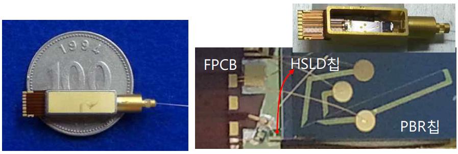 10G XMD TOSA 시제품과 내부구조