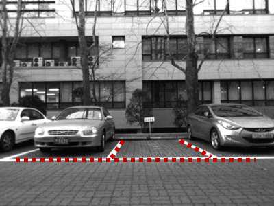 주차영역의 line/corner 특성