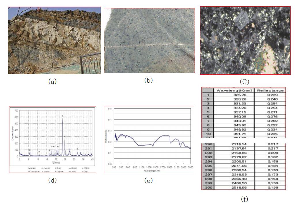 울산시 울주군 범서읍 지역의 백악기 대구층 암석 샘플.