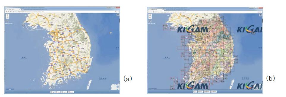 MGEO 시스템에 배경지도로 추가된 바로e맵