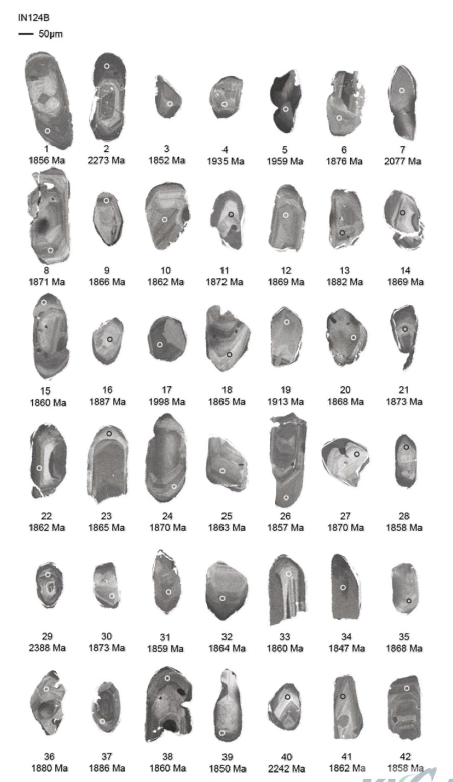 인천 검단 지역의 규암(IN124B) 저어콘의 음극발광영상과 LA-ICP-MS U-Pb 연령