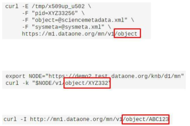 Import/export example using RESTful API
