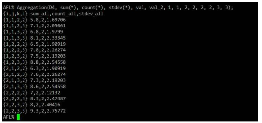 Sum, Count, Stdev - Two Attributes in range (1, 1, 2, 2) ~ (2, 2, 3, 3)