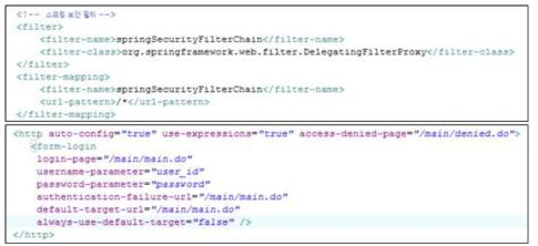 User account management function (web.xml)