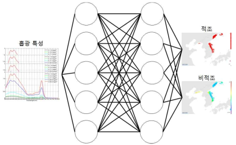 Red-tide detection neural network model with absorption property