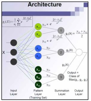 Structure of probablistic neural network
