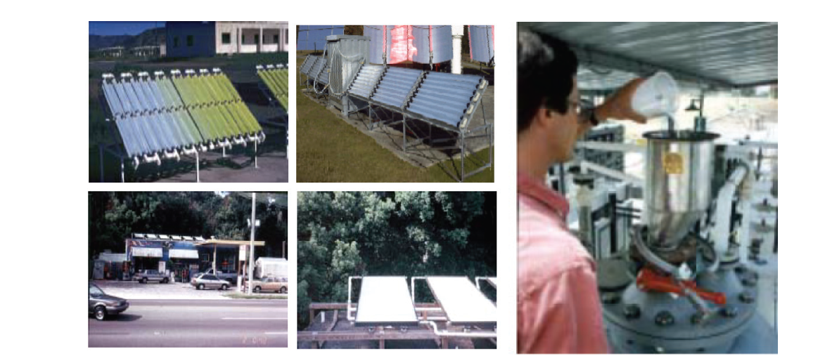 기존 파우더형 광촉매 이용 태양광 수처리 기술