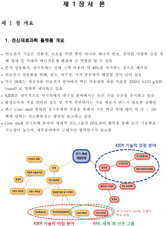1] 전극촉매 핵심기술 확보를 위한 KIER-BNL 협력연구의 필요성