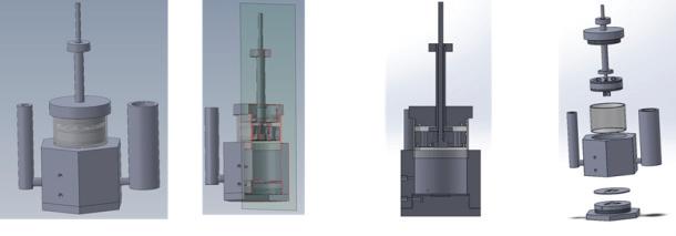 신개념 Compression 타입 Scale-up 코어쉘 전극촉매 제조용 반응기 (Version 2)