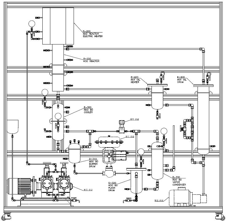 연속 HDO 장치 Structure (Front view)