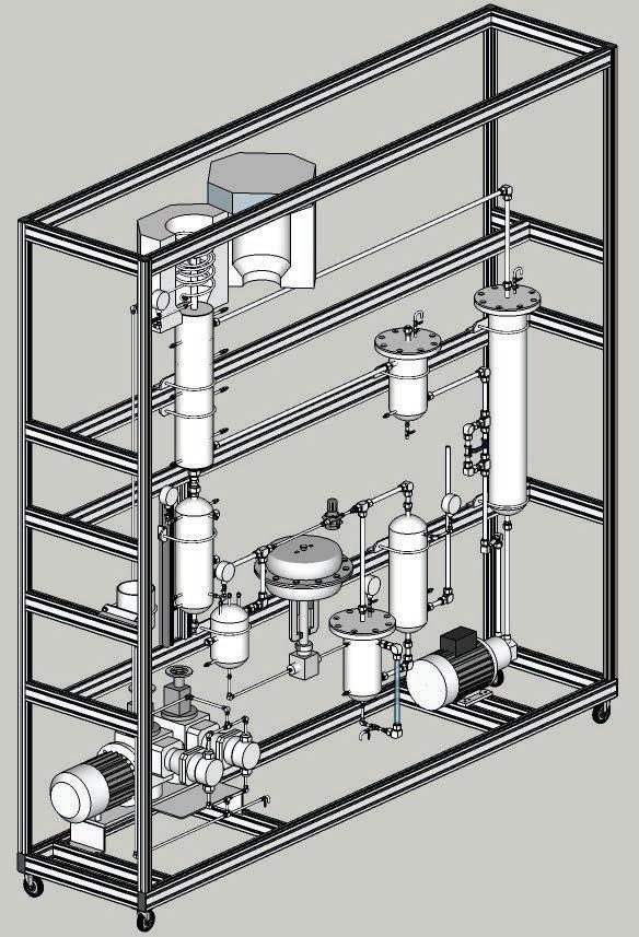연속 HDO 장치 Structure (3D model)