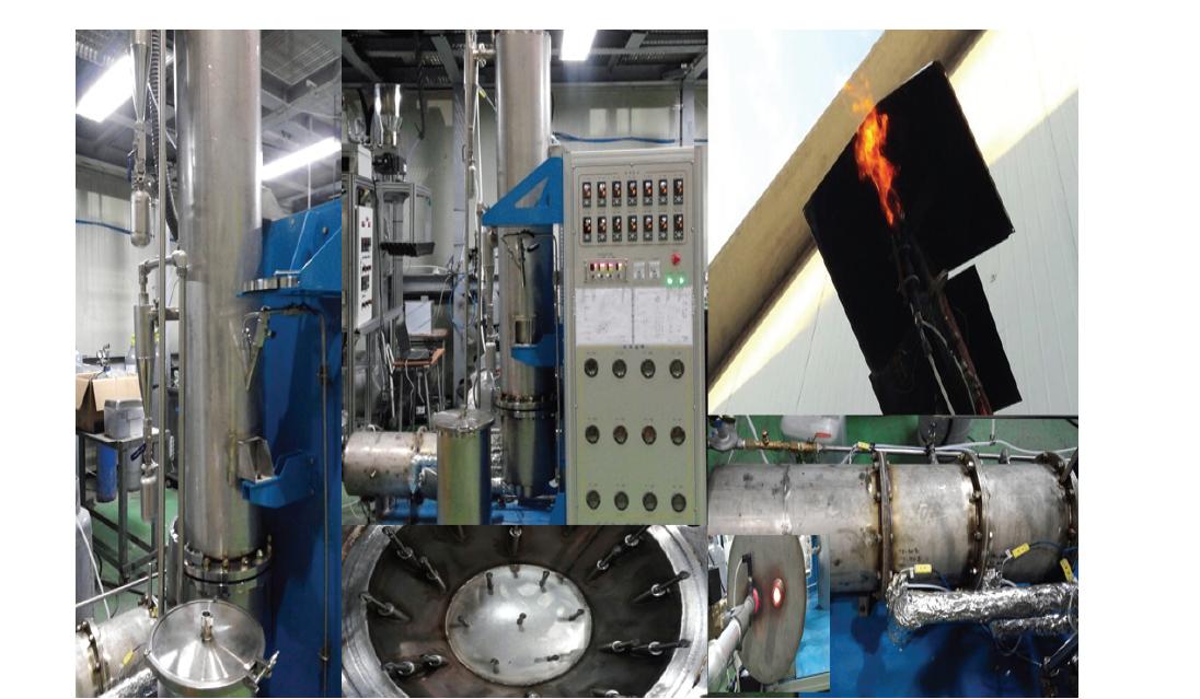 실제 설치된 내부순환 유동층 반응기 (Track 2) 시스템의 사진