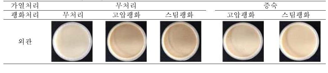 쌀귀리 발효액의 외관