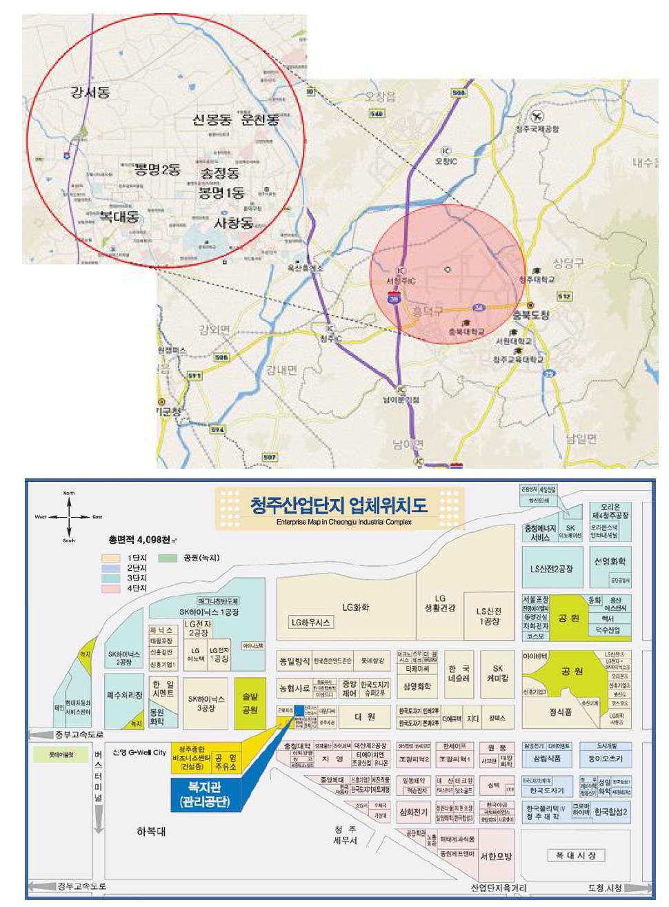 청주산업단지의 지정학적 위치와 규모