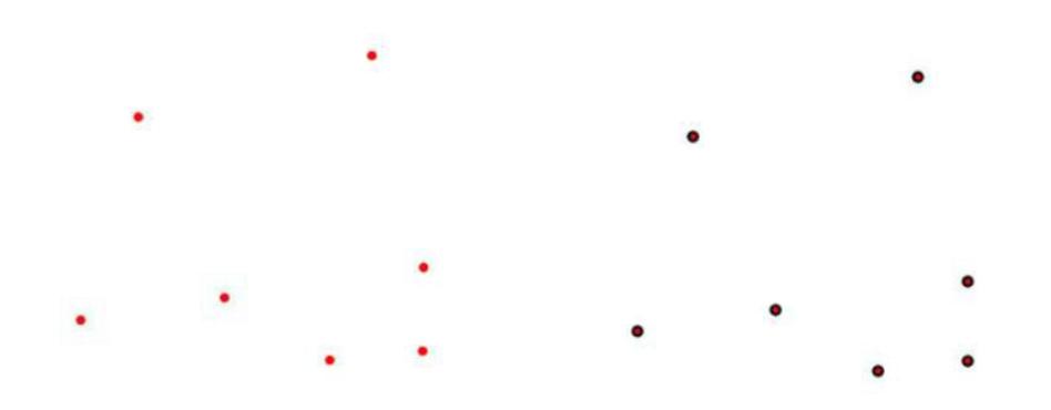 단순 포인터와 외각선을 가진 포인터 설정 방법