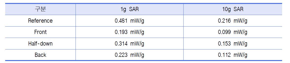 측정 결과 : 30 μm, BODY, 1 cm 이격조건