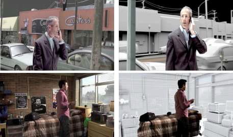 영화 22 Jump Street(2014)의 가상셋트 활용 사례