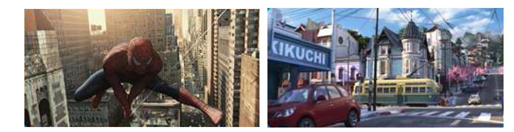 영화에서 3D 공간정보 활용한 도시 재현 사례