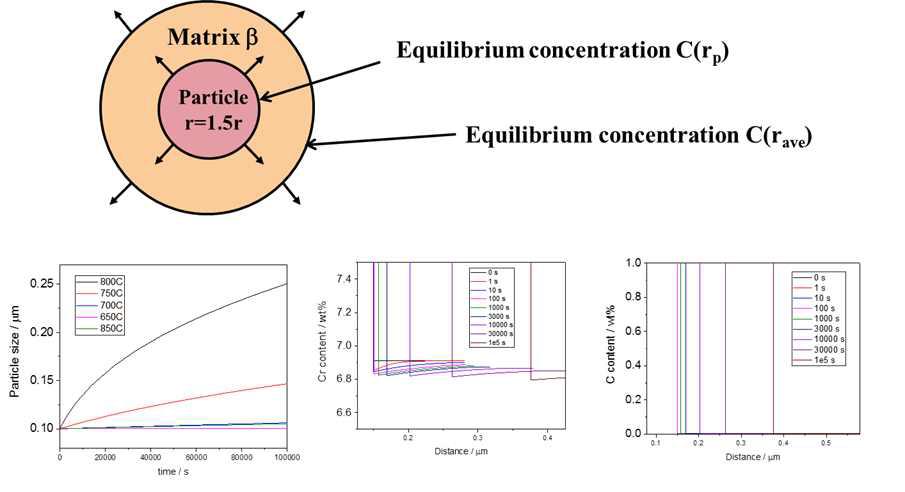 다원계 확산 모사를 통한 석출물 조대화 거동 분석
