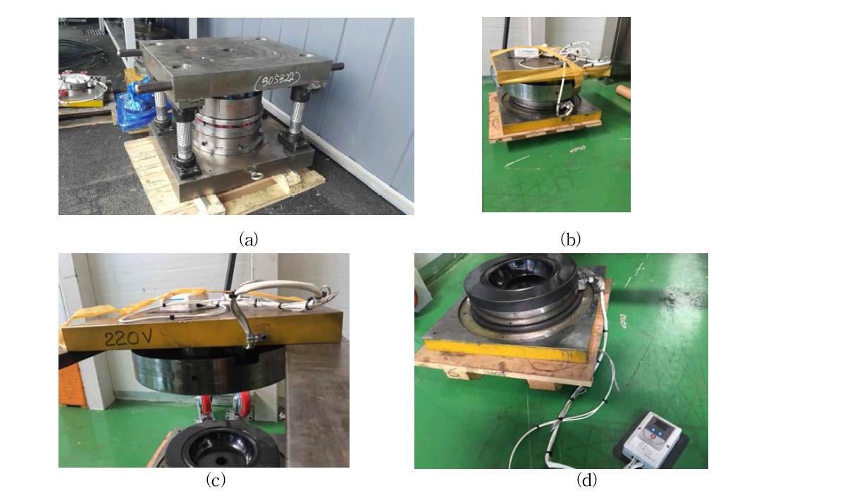 용탕단조를 위한 금형 (a) 금형 1세트 (b) ~(d) 매립히타 및 멀티코팅된 금형