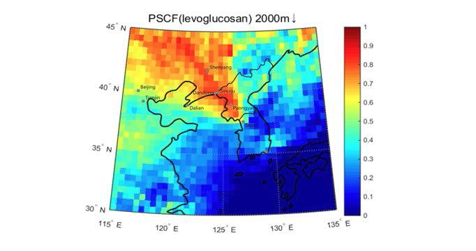 3D-PSCF plot of levoglucosan.