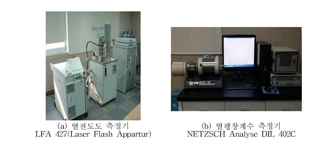 열전도도와 열팽창계수 측정 기기