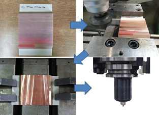 구리 코팅층-벌크 구리접합을 위한 시료가공