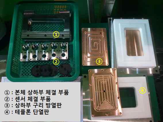 제작 완료 된 Lab-TH 실험장치 주요 부품.