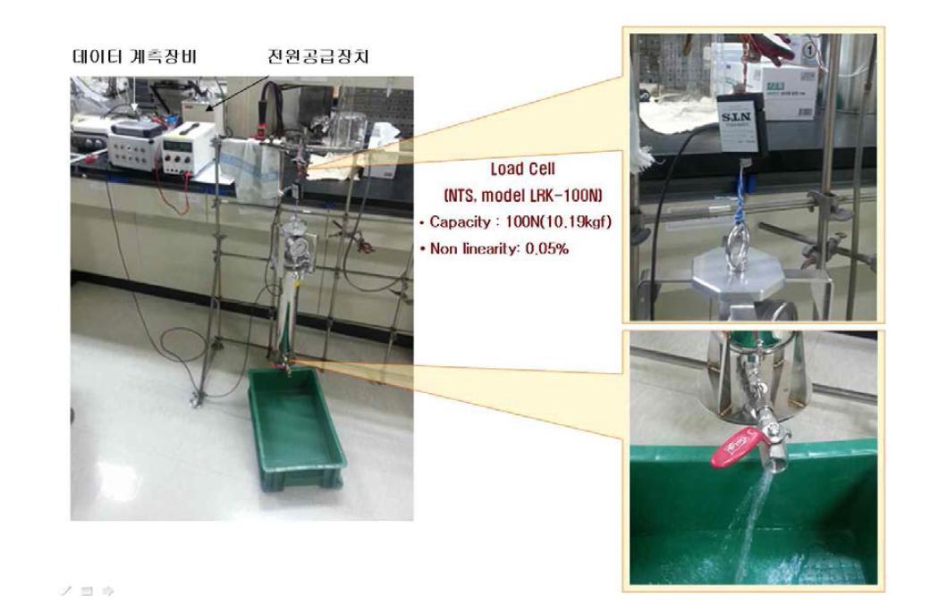 힘센서를 이용한 물공급장치 무게 측정