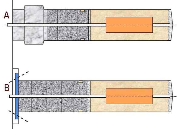 공학적 방벽 처분공 플러그 방법; A-쇄기형, B-앵커형