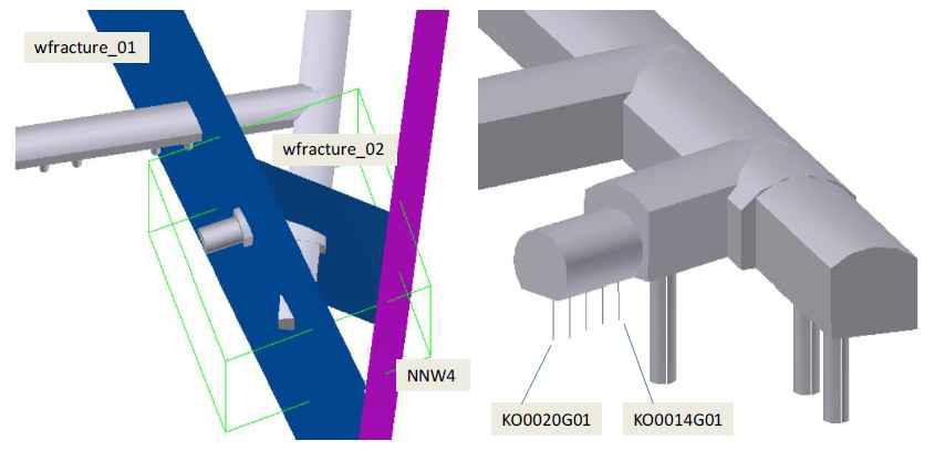 해석영역 내 TASO 터널과 처분공의 기하학적 형상(Task 8c)