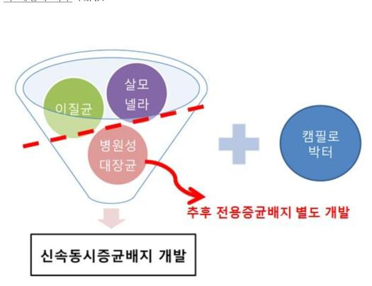 제 1협동기관 증균배지 개발 모식도