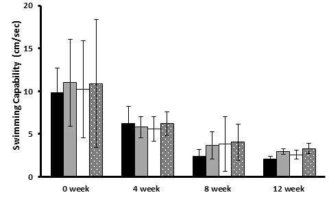 The effects of the plum extract on changes on motor activity measured by swimming test