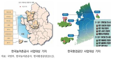 2008~2011년 SOFA 합동위원회가 승인한 16개 반환미군 기지