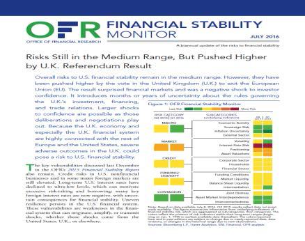 금융조사국의 금융안정성 분석 보고서