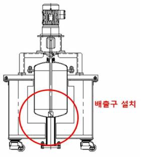 하부에 배출구를 설치한 3차 수정 제품