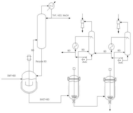 Batch reactor process.