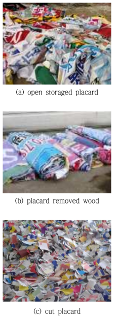 Pretreatment of placard