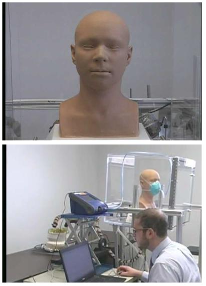 미국 NIOSH의 호흡기 적합성 평가를 위한 인체 모형 로봇의 움직임
