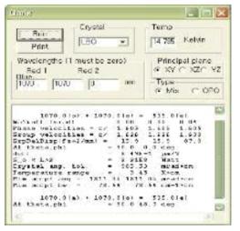 SNLO simulation package: LBO의 NCPM 조건 시뮬레이션