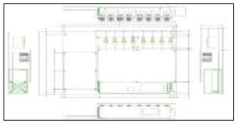 광섬유 레이저 드라이버 모듈 8채널 및 4채널 보드 예시