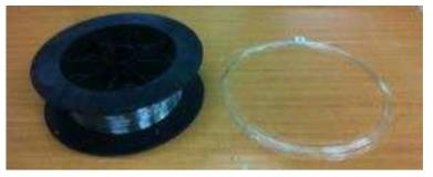 제조된 N-PM 기반 대면적 O형 및 D형 이중 클래딩 외부 굽힘 저손실 레이저 발진용 특수 광섬유 시제품