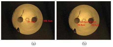 제조된 PM 기반 고출력 저손실 레이저용 대면적 특수 광섬유 단면 현미경 사진