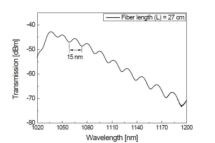 PM 기반 고출력 저손실 레이저용 대면적 특수 광섬유의 사냑 루프 간섭패턴