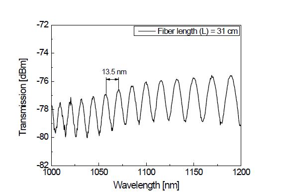 수동형 PM 기반 대면적 광섬유의 사냑 루프 간섭패턴