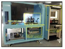 PM 구조 광섬유 격자 제조 시스템 사진