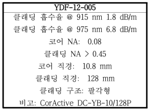 YDF-12-005의 특성
