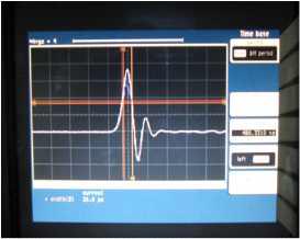 시간에 대한 펄스 출력, DCA를 이용해 측정