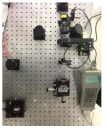 능동형 편광 조절 시스템의 셋업(사진)