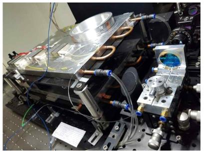 출력파워 100 W 이상의 광섬유 증폭기 실험 셋업
